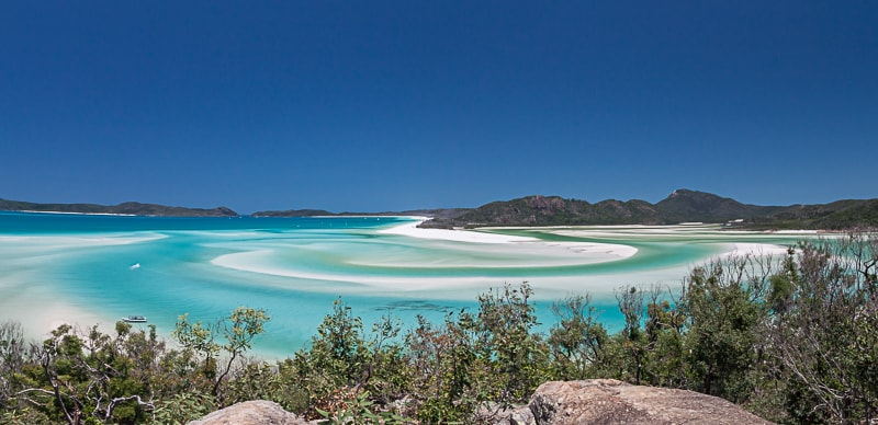 Whitsunday Islands | Panorama vom Hill Inlet Lookout