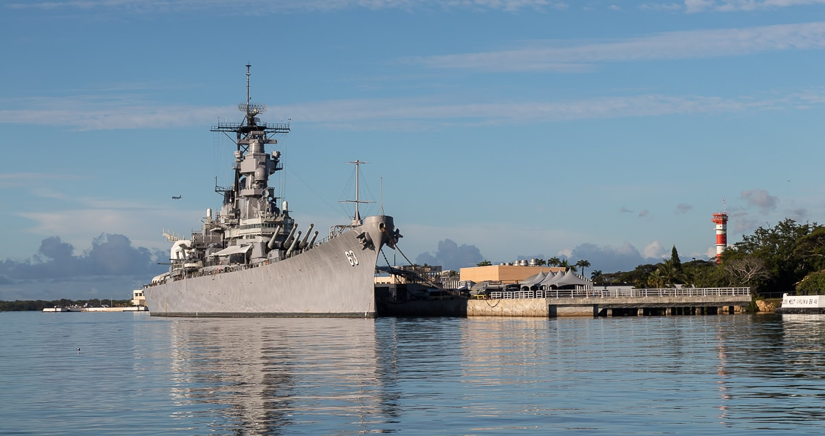USS Missouri in Pearl Harbour