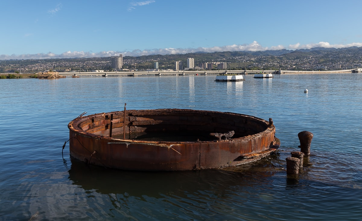 Wrack der USS Arizona in Pearl Harbour