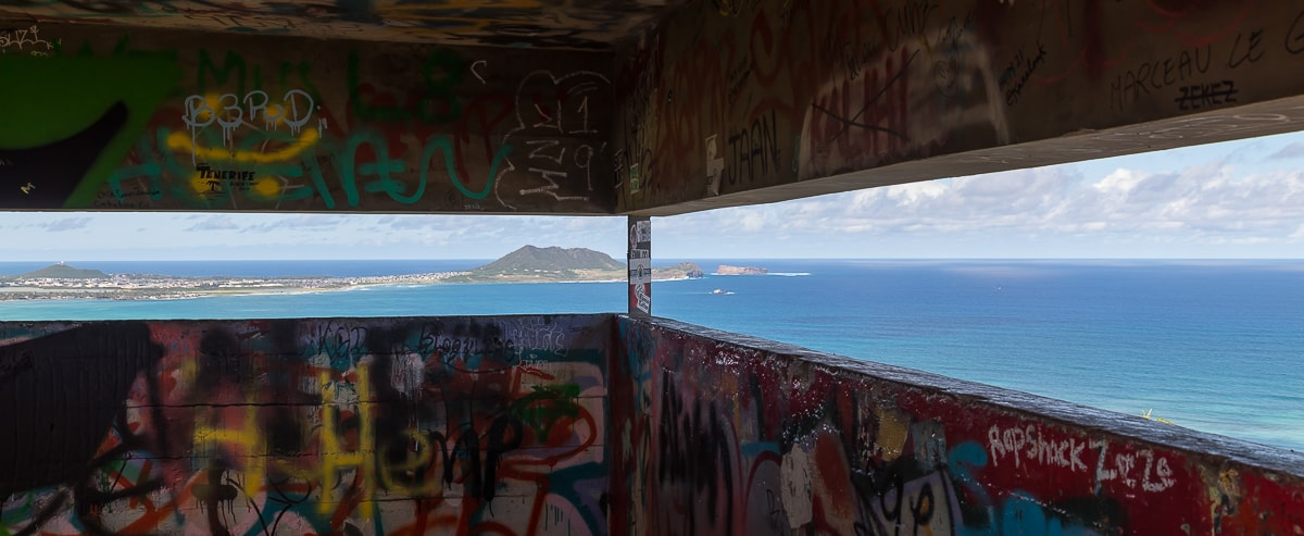 Innenansicht der Bunker (Pillbox) in Lanikai auf Oahu