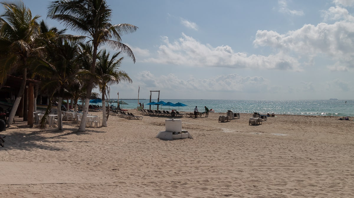 Sandstrand in Playa del Carmen