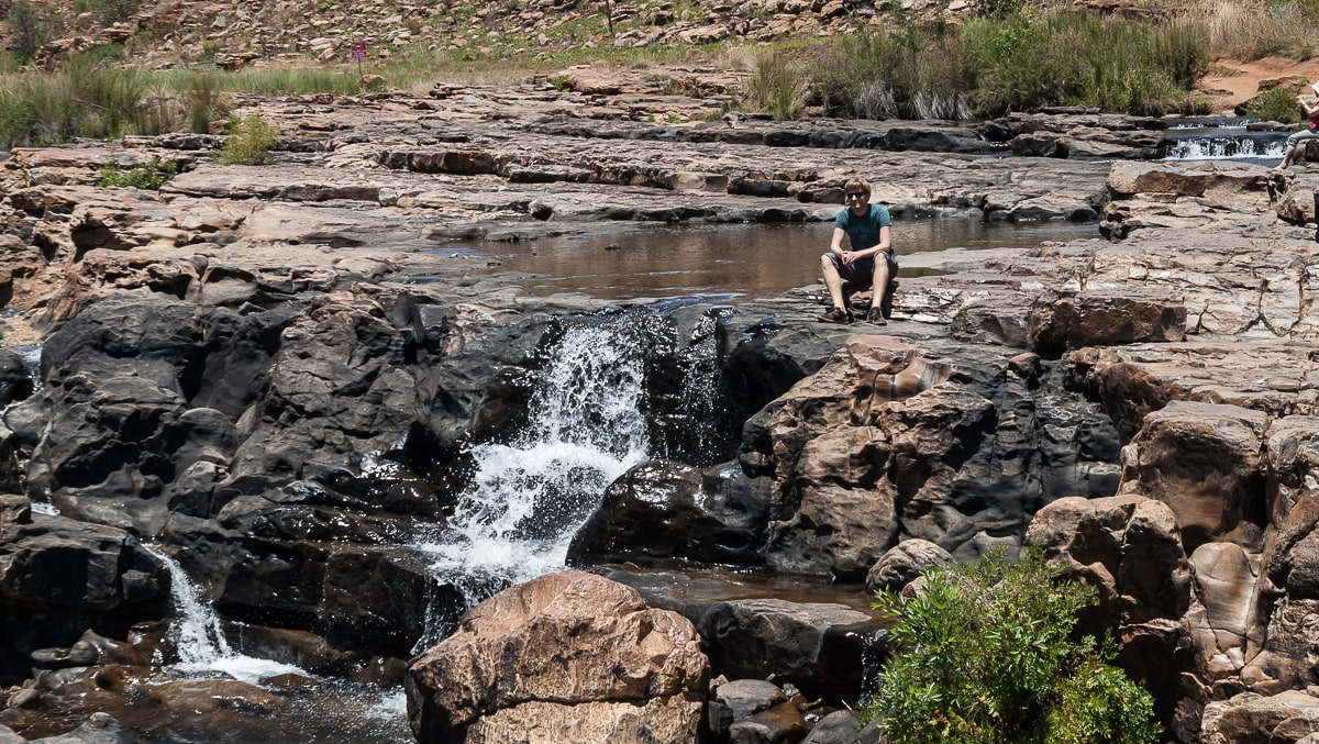 Wasserfall an den Bourke's Luck Potholes
